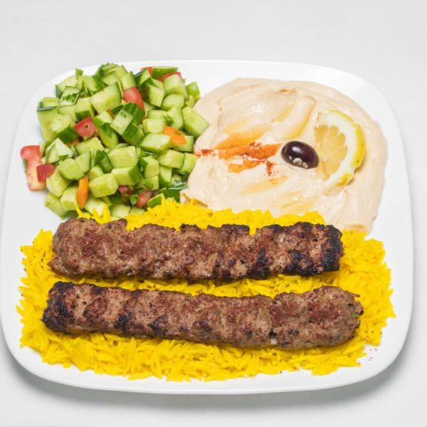 Ground Beef Kabob Plate
